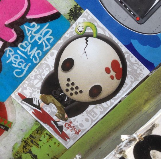 sticker CZee13 Amsterdam 2014 November mask