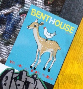 sticker Vinylone Amsterdam Spuistraat 2014 Benthouse we are all born naked deer chicken