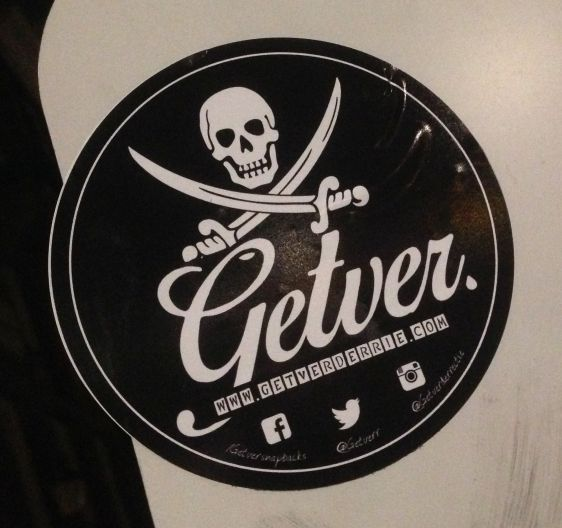 sticker swords skull Amsterdam 2015 Januari gedver gedverderrie ISIS