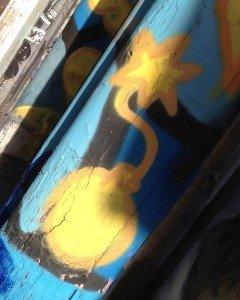 graffiti Amsterdam 2015 February bomb terror explosion