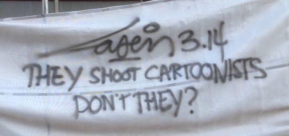 graffiti Laser 314 Amsterdam South 2015 January shoot cartoonists Charlie Hebdo