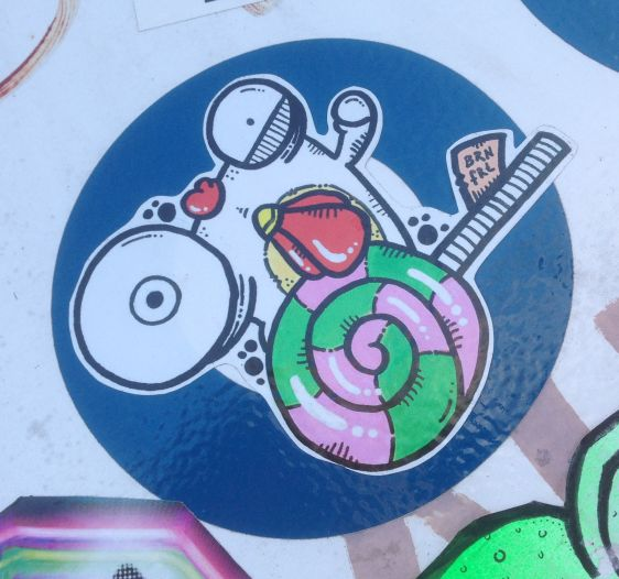 sticker Brn Frt Amsterdam NDSM January 2015 brain fart chicken