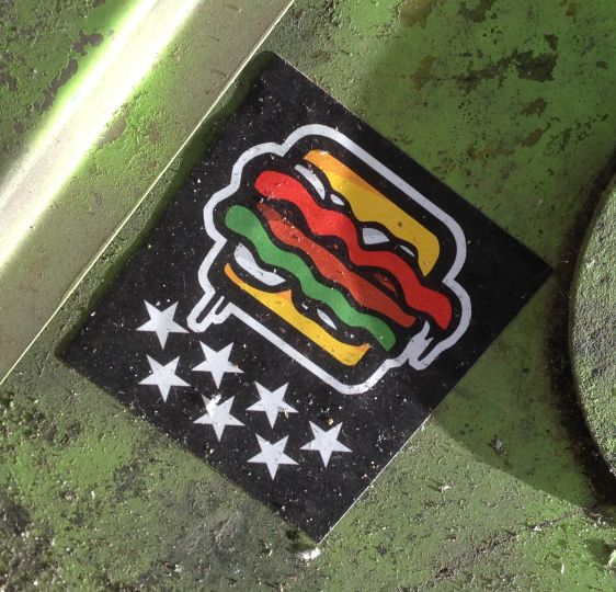 sticker hamburger Amsterdam 2015 February