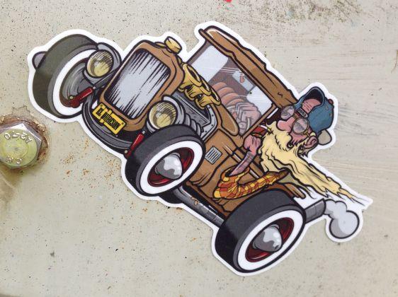 sticker El Dudeson Amsterdam Amsterdamse Brug 2014 Juni car
